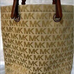 Michael Kors Jet Set MK Logo North South Tote Bag